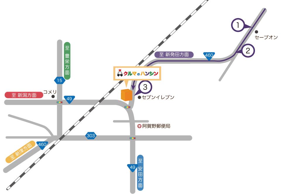 新発田方面マップ
